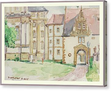 Schontal Abbey Germany Canvas Print by Raymond  Zaplatar