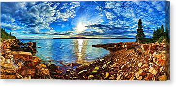 Schoodic Point Cove Canvas Print by Bill Caldwell -        ABeautifulSky Photography