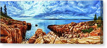 Schoodic Point Granite Canvas Print by Bill Caldwell -        ABeautifulSky Photography
