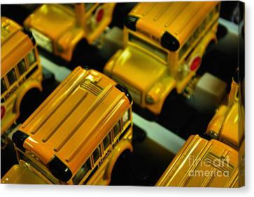 School Buses  Canvas Print by John S