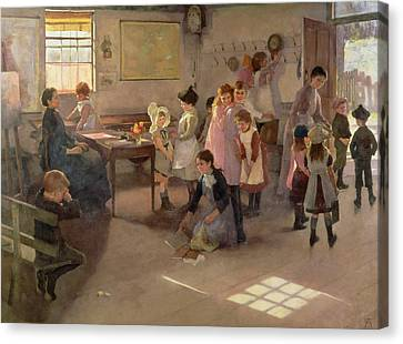 School Is Out Canvas Print by Elizabeth Adela Stanhope Forbes