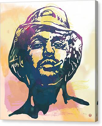 Schoolboy Q Pop Stylised Art Poster Canvas Print by Kim Wang