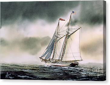 Schooner Heritage Canvas Print by James Williamson