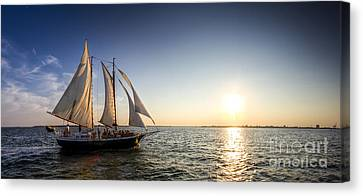 Schooner Welcome Sunset Charleston Sc Canvas Print by Dustin K Ryan