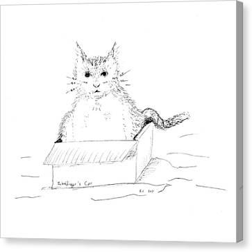 Schrodinger Cat Canvas Print by Regina Valluzzi