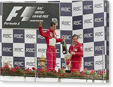 Michael Schumacher Podium Canvas Print by Gary Doak