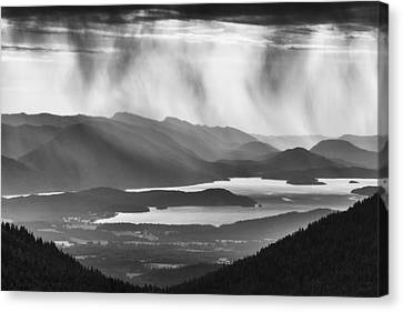 Schweitzer Mountain Storm Canvas Print by Mark Kiver