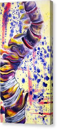 Scoliosis Canvas Print by Emma Craig