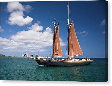 Scooner Canvas Print by Diego Pagani