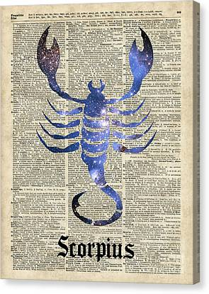 Scorpius Scorpion Zodiac Sign  Canvas Print by Jacob Kuch