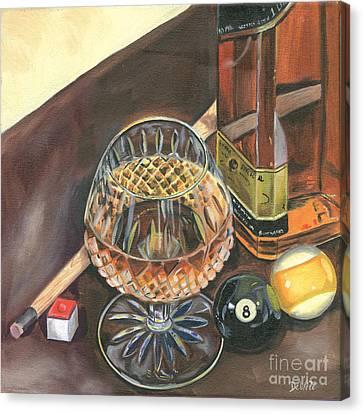 Scotch Cigars And Pool Canvas Print by Debbie DeWitt