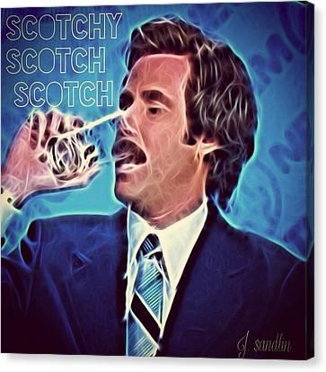 Scotchy Scotch Scotch Canvas Print by J S
