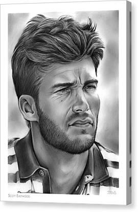 Scott Eastwood Canvas Print by Greg Joens