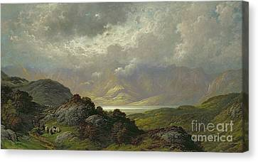 Scottish Landscape Canvas Print by Gustave Dore