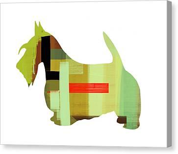 Scottish Terrier Canvas Print by Naxart Studio