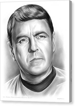 Scotty Canvas Print by Greg Joens