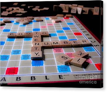 Scrabble Canvas Print by Valerie Morrison