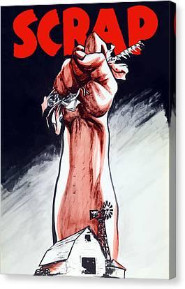 Scrap - Ww2 Propaganda Canvas Print by War Is Hell Store