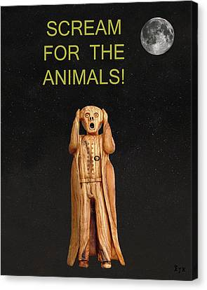 Scream For The Animals Canvas Print by Eric Kempson