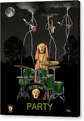 Rocks Canvas Print featuring the mixed media Scream Soul Tour by Eric Kempson