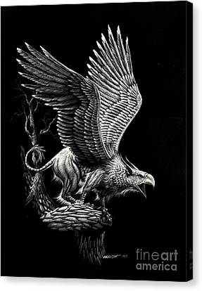 Screaming Griffon Canvas Print by Stanley Morrison