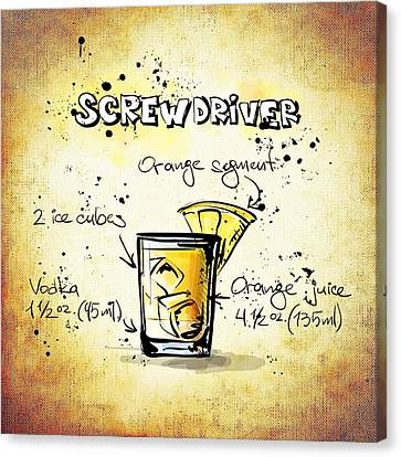 Screwdriver Canvas Print by Movie Poster Prints