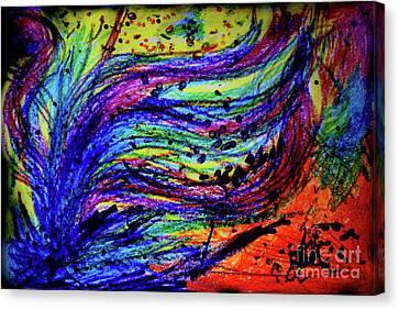 Scribble Canvas Print by Karen Adams