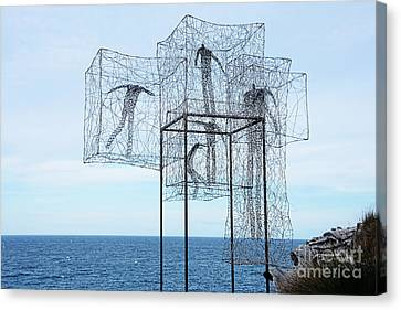 Sculpture By The Sea - Listen Time Passes By Kaye Menner Canvas Print by Kaye Menner