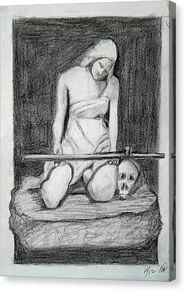 Sculpture Sketch  Canvas Print by Catherine Link