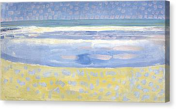 Sea After Sunset Canvas Print by Piet Mondrian