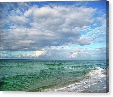Sea And Sky - Florida Canvas Print by Sandy Keeton