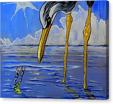 Sea Birds Canvas Print by W Gilroy