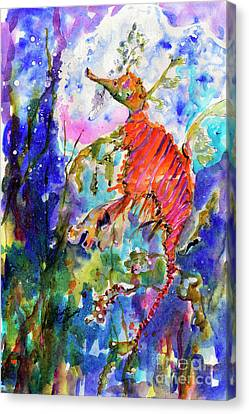 Sea Dragon Wonderland Canvas Print by Ginette Callaway