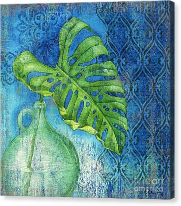 Sea Glass Palm I Canvas Print by Paul Brent