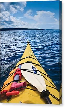 Sea Kayaking Canvas Print by Steve Gadomski