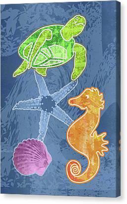 Sea Life Canvas Print by Mary Ogle