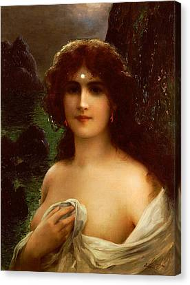 Sea Nymph Canvas Print by Emile Vernon