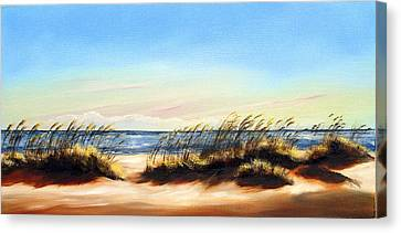 Sea Oats Canvas Print by Michele Snell