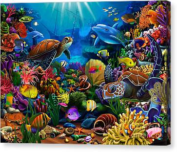 Sea Of Beauty Canvas Print by Gerald Newton