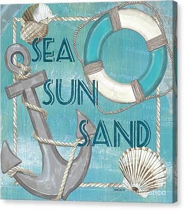 Sea Sun Sand Canvas Print by Debbie DeWitt