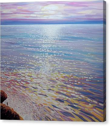 Sea Watching - A Large Seascape Canvas Print by Gill Bustamante