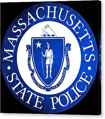 Seal Of The Massachusetts State Police Canvas Print by Tom Lemmons