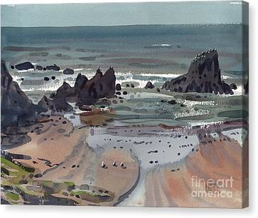 Seal Rock Oregon Canvas Print by Donald Maier
