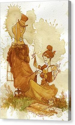 Seamstress Canvas Print by Brian Kesinger