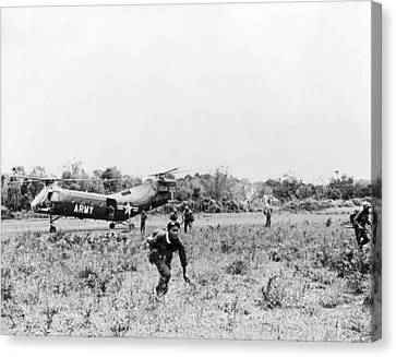 Searching For Viet Cong Canvas Print by Underwood Archives