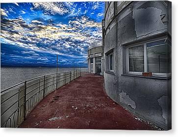 Seascape Atmosphere - Atmosfera Di Mare Canvas Print by Enrico Pelos
