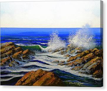 Seascape Study 4 Canvas Print by Frank Wilson