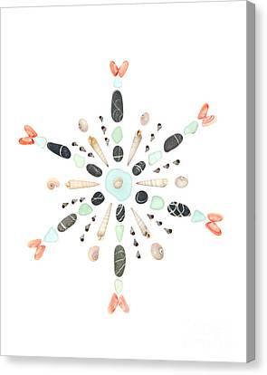Seashell Snowflake 4 Canvas Print by Jennifer Booher