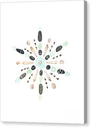 Seashell Snowflake 5 Canvas Print by Jennifer Booher