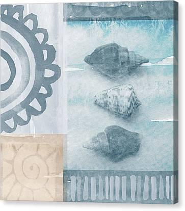 Seashells  Canvas Print by Linda Woods